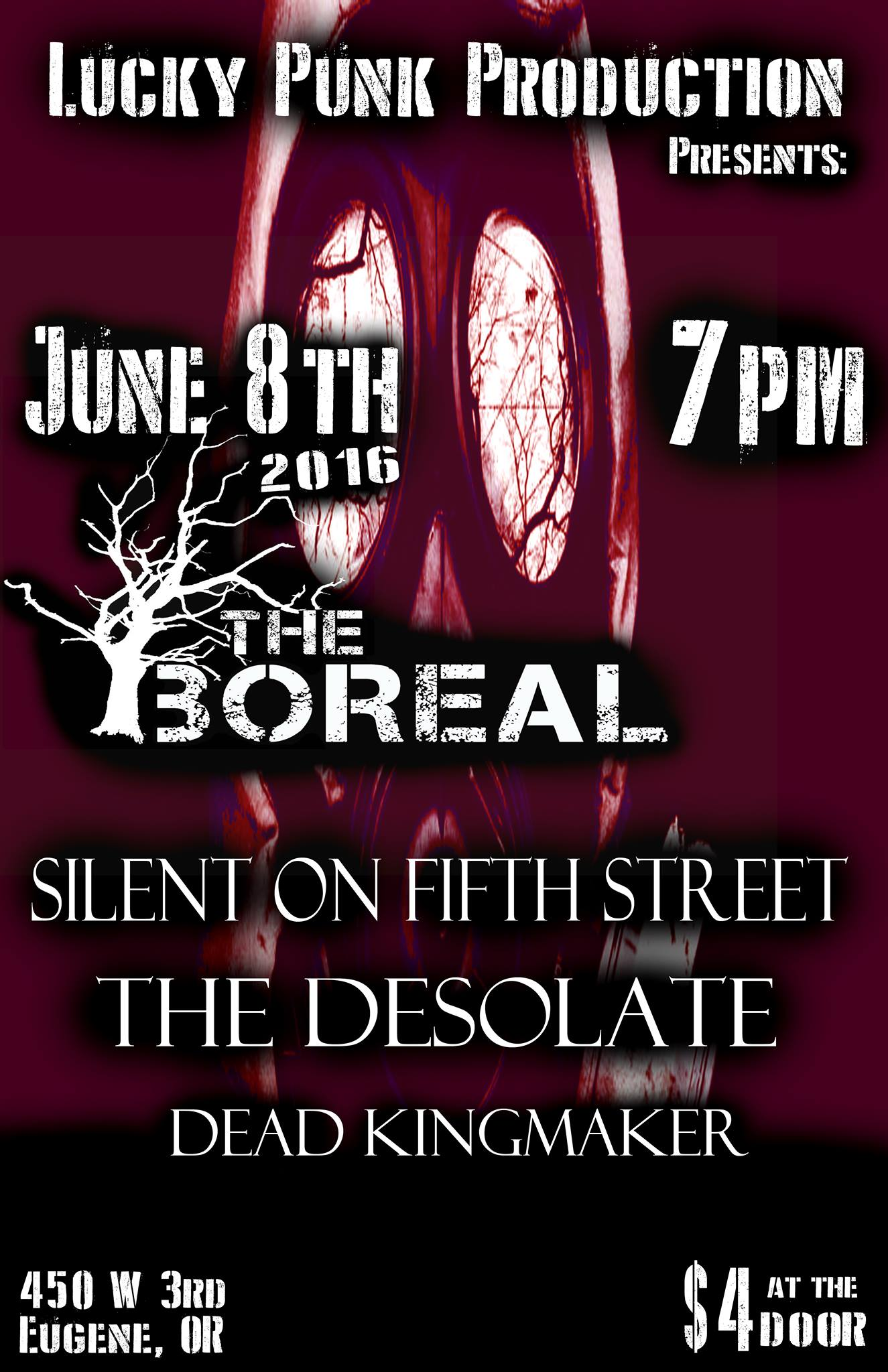 June 8th @ The Boreal Eugene,OR